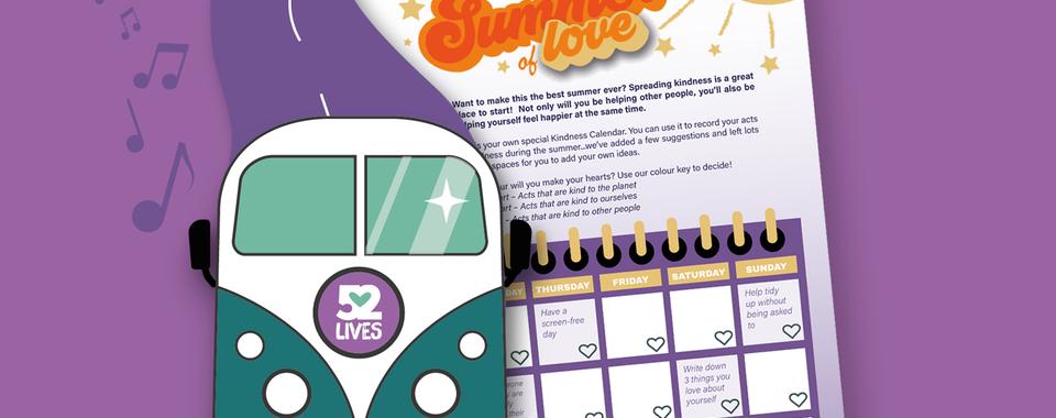 New 'Summer of Love' Kindness Calendar